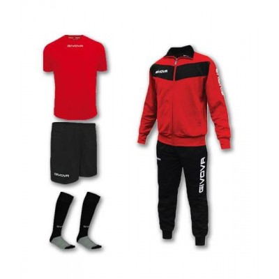 Спортен комплект Box Visa Red, Givova - 4 ч.